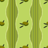 Background with olives. Vector background with green olives Stock Photos
