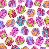 Background сolorful gift boxes. Vector Stock Photography