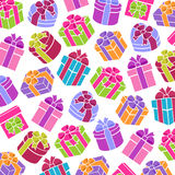 Background сolorful gift boxes. Vector Royalty Free Stock Photo