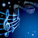 Background On A Musical Theme Stock Photography