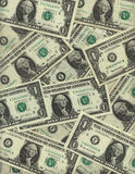 Background of one dollar bills Royalty Free Stock Image