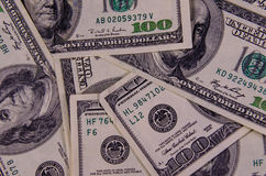 Background of one hundred dollars bills. Heap of the one hundred dollars bills for background Royalty Free Stock Photo