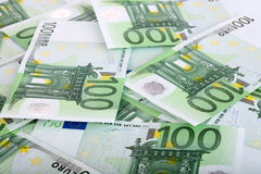 Background of one hundred euro. Royalty Free Stock Images