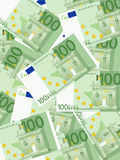 One hundred euro background. Background from a one hundred euro banknotes Royalty Free Stock Photos