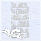 Background with open book Stock Photos