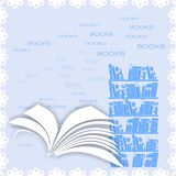 Background with open book Royalty Free Stock Photo