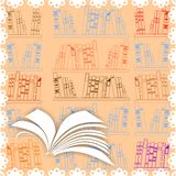 Background with open book Royalty Free Stock Image