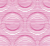 Background with optical effect of volume. Seamless background with optical effect of volume. Vector wallpaper that creates the illusion of a volume rings Royalty Free Stock Photos