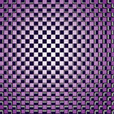 Background optical illusion. Background consisting of squares correct form with the effect of optical illusion. Vector illustration Stock Photography