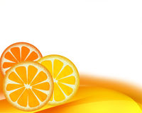 Background - Orange Royalty Free Stock Photos