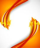 Background with orange arrows. Bright background with orange arrows. Colorful illustration Stock Photos
