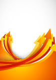 Background with orange arrows Stock Photo
