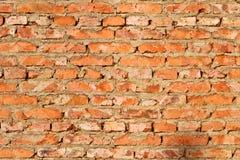 Background of orange brick wall. Texture Royalty Free Stock Photo