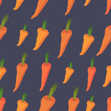 Background of Orange carrots. Vector seamless pattern of vegetab Royalty Free Stock Photos