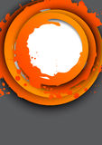 Background with orange circles. Abstract illustration Royalty Free Stock Images