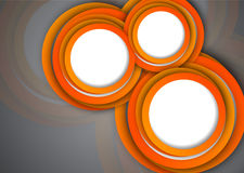 Background with orange circles. Abstract illustration Stock Photo