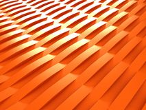 Background of orange 3d abstract waves. Render Stock Photo