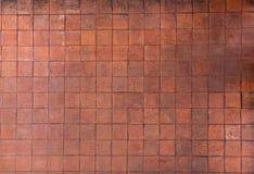 Background of orange floor tiles Royalty Free Stock Photography