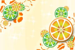 Background with orange segments Stock Image