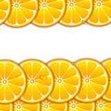 Background with orange slices Stock Images