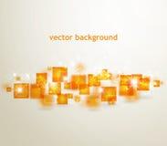 Background with  orange squares Royalty Free Stock Photo