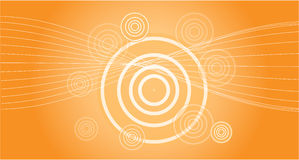 Background in orange with sun effect Royalty Free Stock Photos