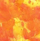 Background, orange-yellow. Orange-yellow watercolor wash background Stock Image