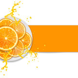Background with oranges Stock Photography