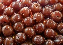 Background of Organic Cherries Stock Photos