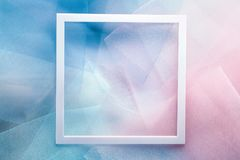 Background with organza cloth and frame Royalty Free Stock Photography