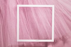 Background with organza cloth and frame Royalty Free Stock Photo