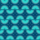 Background with oriental pattern. Oriental pattern in blue color Stock Photography