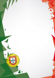 Background origami of Portugal Royalty Free Stock Photography