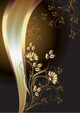 Background with ornament and elegant ribbon Royalty Free Stock Photography
