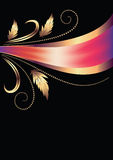 Background with ornament and elegant ribbon Royalty Free Stock Photo