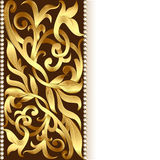 Of the background and ornament of gold for invitations Royalty Free Stock Photos