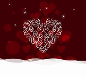 Background with ornament heart by valentines day Royalty Free Stock Image