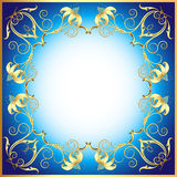Background with ornament made of precious stones and flowe Royalty Free Stock Images