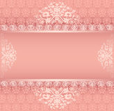Background with ornament with pink stripe for post Stock Photos