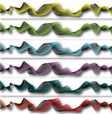 Background ornament with six different colors Stock Photos