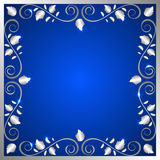 Background with ornamental frame Royalty Free Stock Image