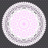 Background with Ornamental Round Lace Pattern Stock Photography