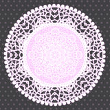 Background with ornamental round lace pattern Stock Images