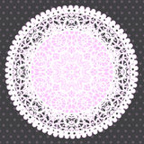 Background with ornamental round lace pattern Royalty Free Stock Photos