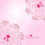 Background with ornamental round with rose-02 Stock Photos