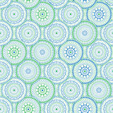 Background ornaments. Oriental circle in green and blue colors Royalty Free Stock Photos