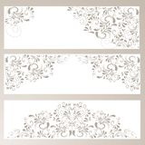 Background with ornaments in beige. Beautiful background banner with ornaments in beige Stock Photo