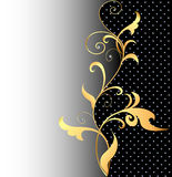 Background with ornaments of gold and Stock Photography