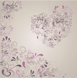 Background with ornaments. Lovley background with ornaments and hearts Stock Photos