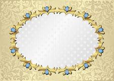 Background. Ornate background with decorative frame Stock Image